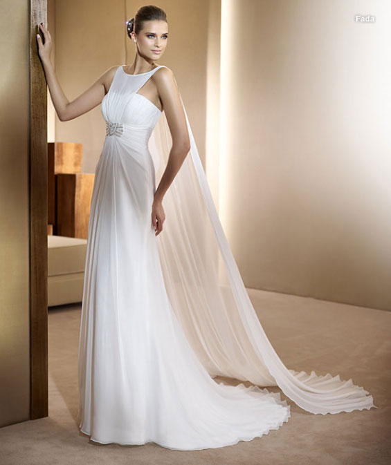 Свадебное платье в греческом стиле - много красивых фото